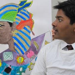 Egyptian Profile Self Portraits: Grade 6