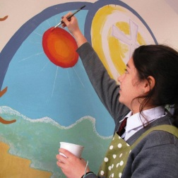 MBIS 60th Anniversary Mural: MS & HS Art