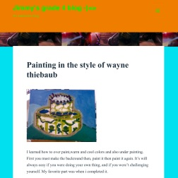 Blog Post Reflection: In the Manner of Wayne Thiebaud