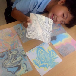 Suminagashi Paper Marbling: Grade 4