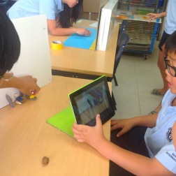 Stop Motion Animation with Grade 4 students.