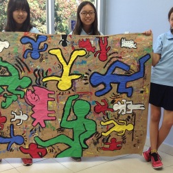 Mural making in the Style of Keith Haring: Grade 5