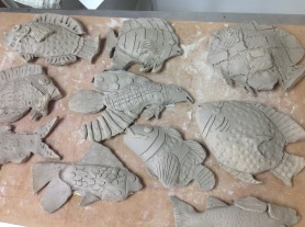 Grade 4: Clay Relief Fish