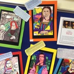 Grade 5: Modern Mona Lisa Contour Line Drawing