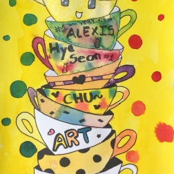 Grade 3 Tea Party: Watercolor